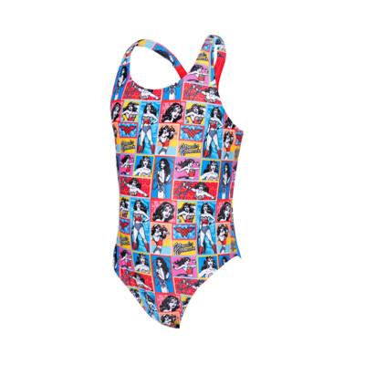 Product overview - Junior Girls Wonder Woman Rowleeback Swimsuit