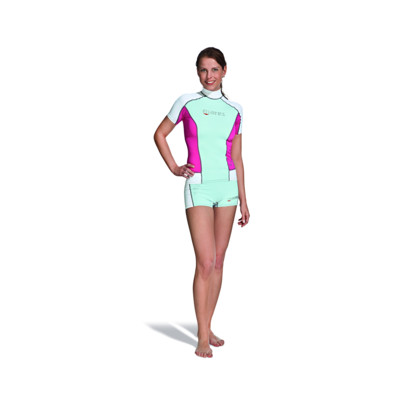 Product overview - Rash Guard Short Sleeve - She Dives pink