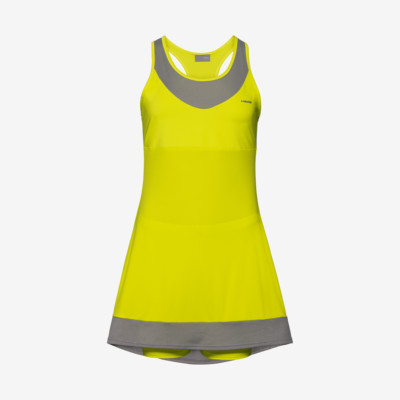 Product overview - DEMI Dress W yellow/grey