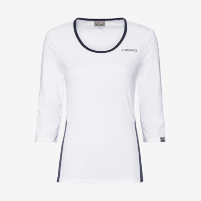Product overview - CLUB Tech 3/4 Shirt W white/dress blue