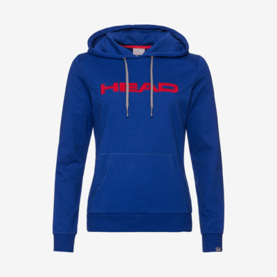 Product overview - CLUB ROSIE Hoodie W royal blue/red
