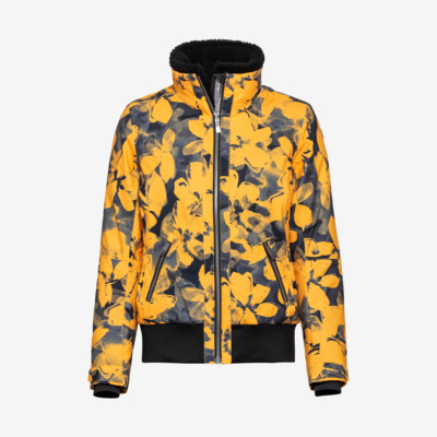 Product overview - DEMI Jacket Women pop art flower yellow