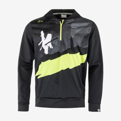 Product overview - RACE Hoodie PRINT Junior black/yellow race