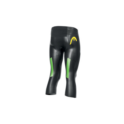 Product hover - SWIMRUN RACE 3/4 PANTS (UNISEX) black/brown