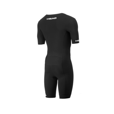 Product hover - TRI SLEEVE SUIT with zip (UNISEX) black/red