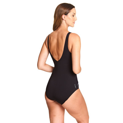 Product hover - Sunset Palms Wrap Front One Piece black/metal
