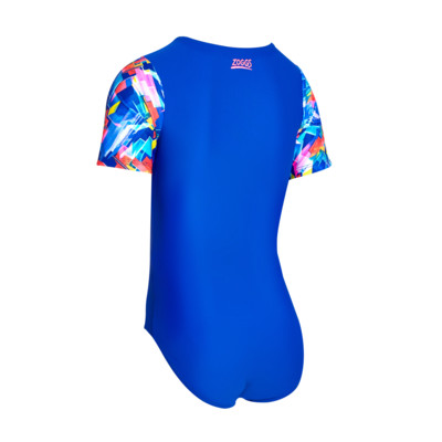Product hover - Junior Girls Digital Geo Capped Sleeve Suit