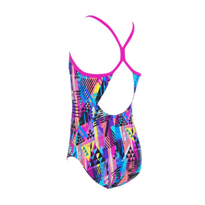 Product hover - Junior Girls Labrynth Sprintback Swimsuit