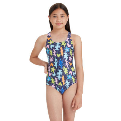 Product hover - Girls Coral Sea Rowleeback One Piece CORF