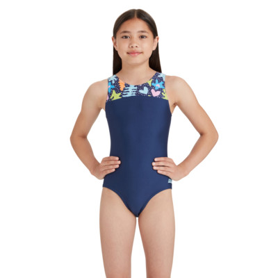 Product hover - Girls Coral Sea Infinity Back One Piece CORF