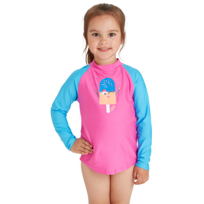 Product hover - Girls Ice Friends Zip Sun Top ICFR