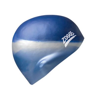 Product hover - Multi Colour Silicone Swimming Cap blue/silver