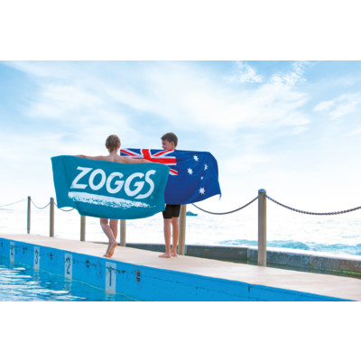 Product hover - Zoggs Unisex Adult Swimming Pool Towel blue