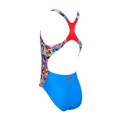 Product hover - Junior Girls Wonder Woman Rowleeback Swimsuit