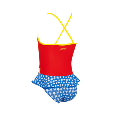 Product hover - Girls Wonder Woman Swimdress