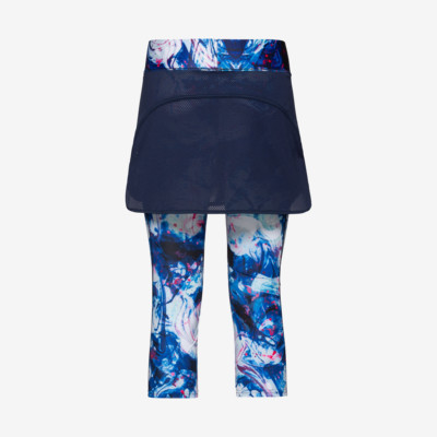 Product hover - SMASH 3/4 Tights Skort W dark blue/caleido royal